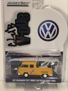 1972-Volkswagen-Type-2-Double-Cab-Pick-Up-Ladder-Truck-1-64-Greenlight-29960D
