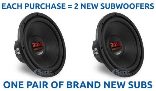 """2 BOSS 1800W 12/"""" CHAOS SERIES Dual 4-Ohm Car SubwoofersCH12DVC"""
