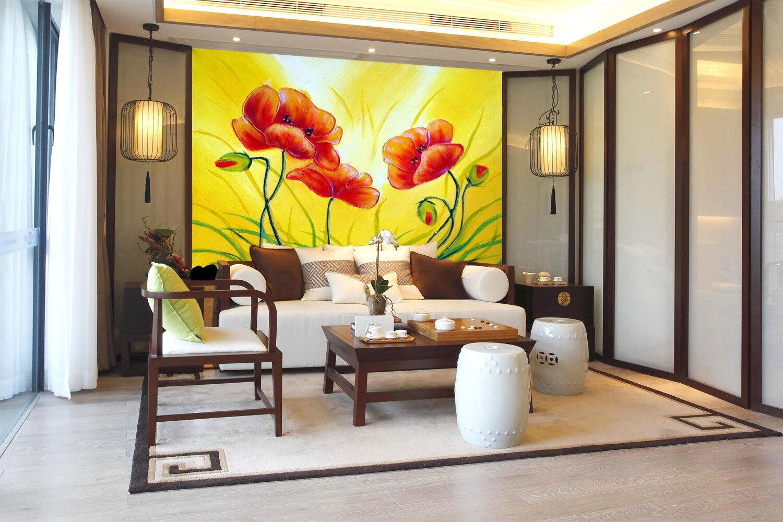 3D Bright Flowers 74 Wall Paper Murals Wall Print Wall Wallpaper Mural AU Summer
