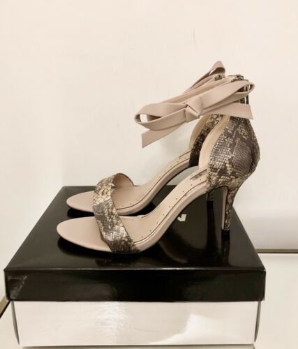 Heel Gabby Ankle Kg New Miss Kurt Eu High Geiger 39 6 Size Sandals Tie Nude £75 wHfH18Fx