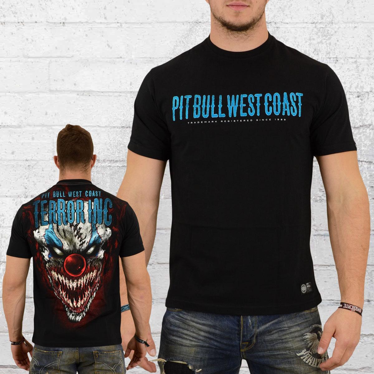 7652257a Bull West Coast Männer T-Shirt Clown black Pitbull Pit Horror npdrju1465-T- Shirts