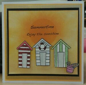 Unmounted-rubber-stamp-set-of-Beach-Huts-REDUCED