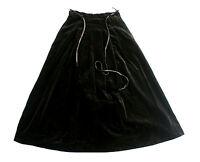 Vintage 70's Velvet Skirt Indie Retro Boho Emo Goth 6