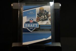 Calvin Johnson 2007 Rookie NFL Draft card. Just inducted into the HOF.