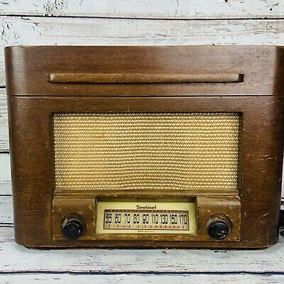 Emerson Antique Reproduction Wooden Back for Oriental Hand Painted Deco Radio
