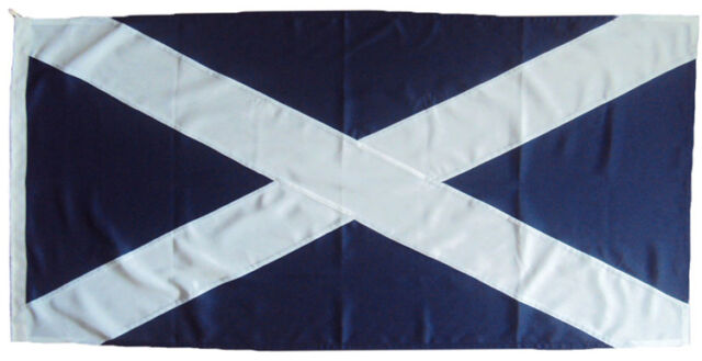Scotland Sewn 5x3  + 1 yards & 2 yards flags Made with MOD Approved flag cloth