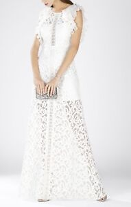 NEW-BCBG-MAX-AZRIA-OFF-WHITE-GEANNA-LACE-BLOCKED-GOWN-LCC63D80-L508W-SZ-6