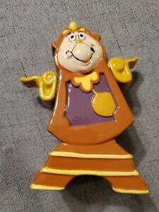Disney-Beauty-amp-The-Beast-Clock-Cogsworth-Porcelain-Ceramic-Figurine