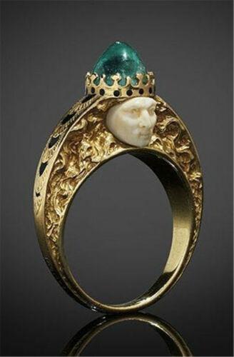 Stylish Women 18K Yellow Gold Filled Emerald Ring Gift Party Jewelry Sz6-10