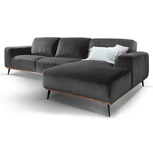 Details Zu Eckcouch Samt Skandinavisches Design L Form Ecksofa Couch Barcelona Big Sofa