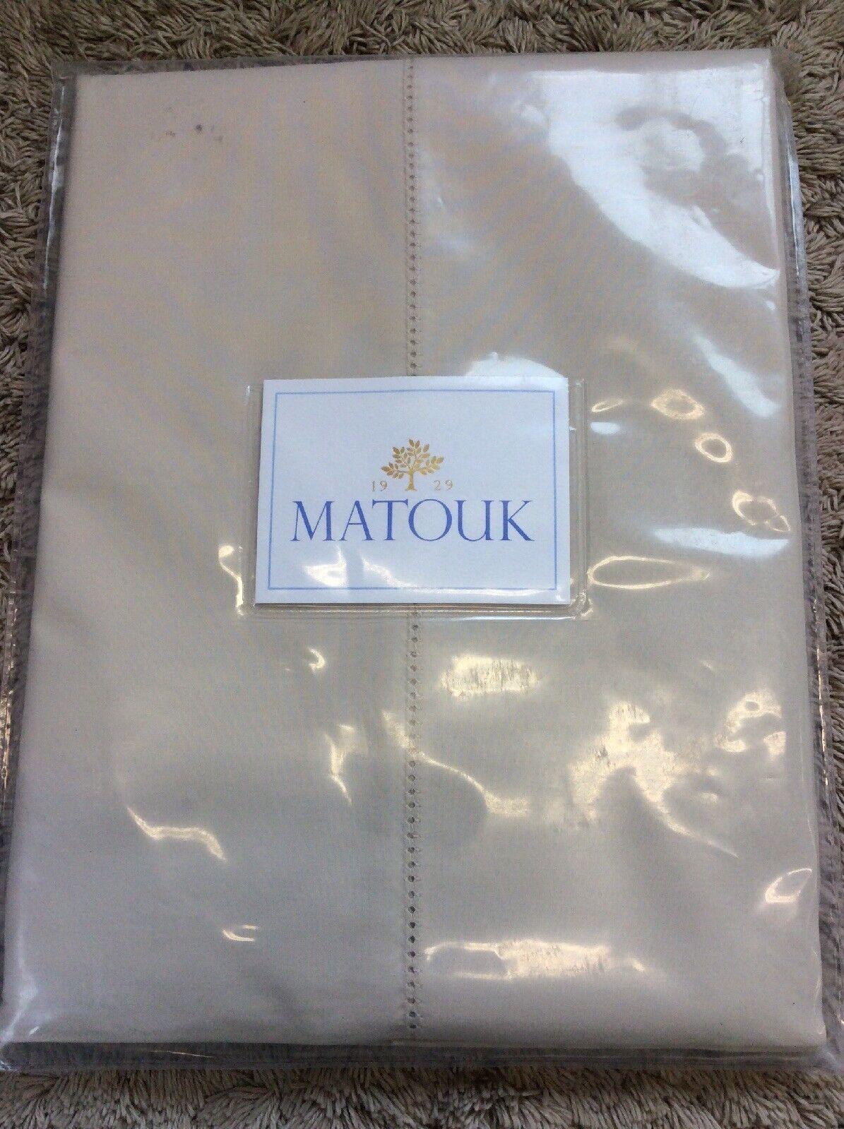 Matouk Milano King Hemstitch Pillowcase - bianca