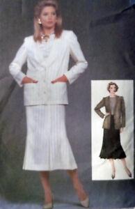 SEWING-PATTERN-Jacket-Skirt-Top-vintage-1980s-size-12-UNCUT