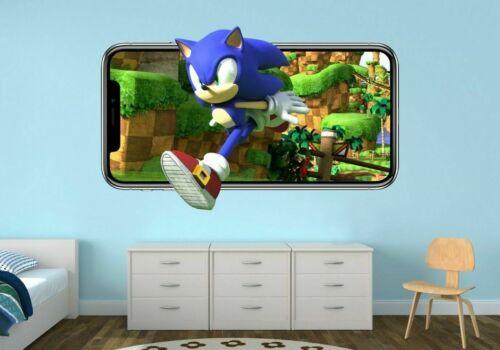 Sonic Custom Wall Decals 3D Wall Stickers Art VideoGame MA17