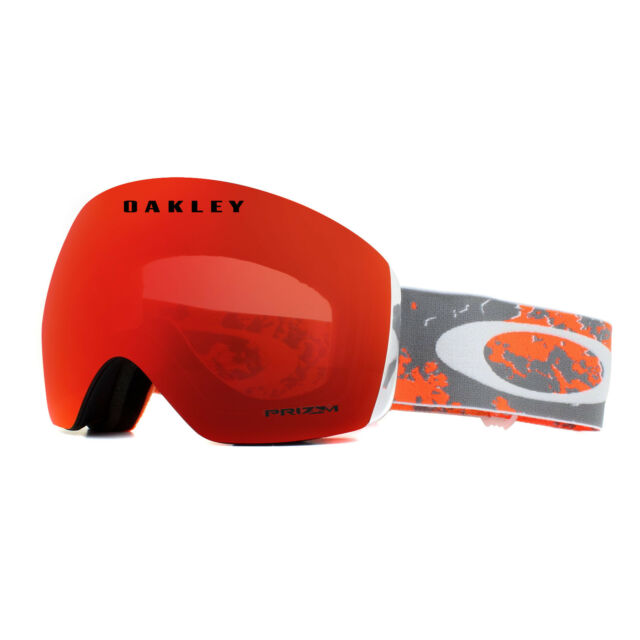 440dfa3d67 Oakley Ski Goggles Flight Deck OO7050-62 Arctic Fracture Orange Prizm Torch  Irid