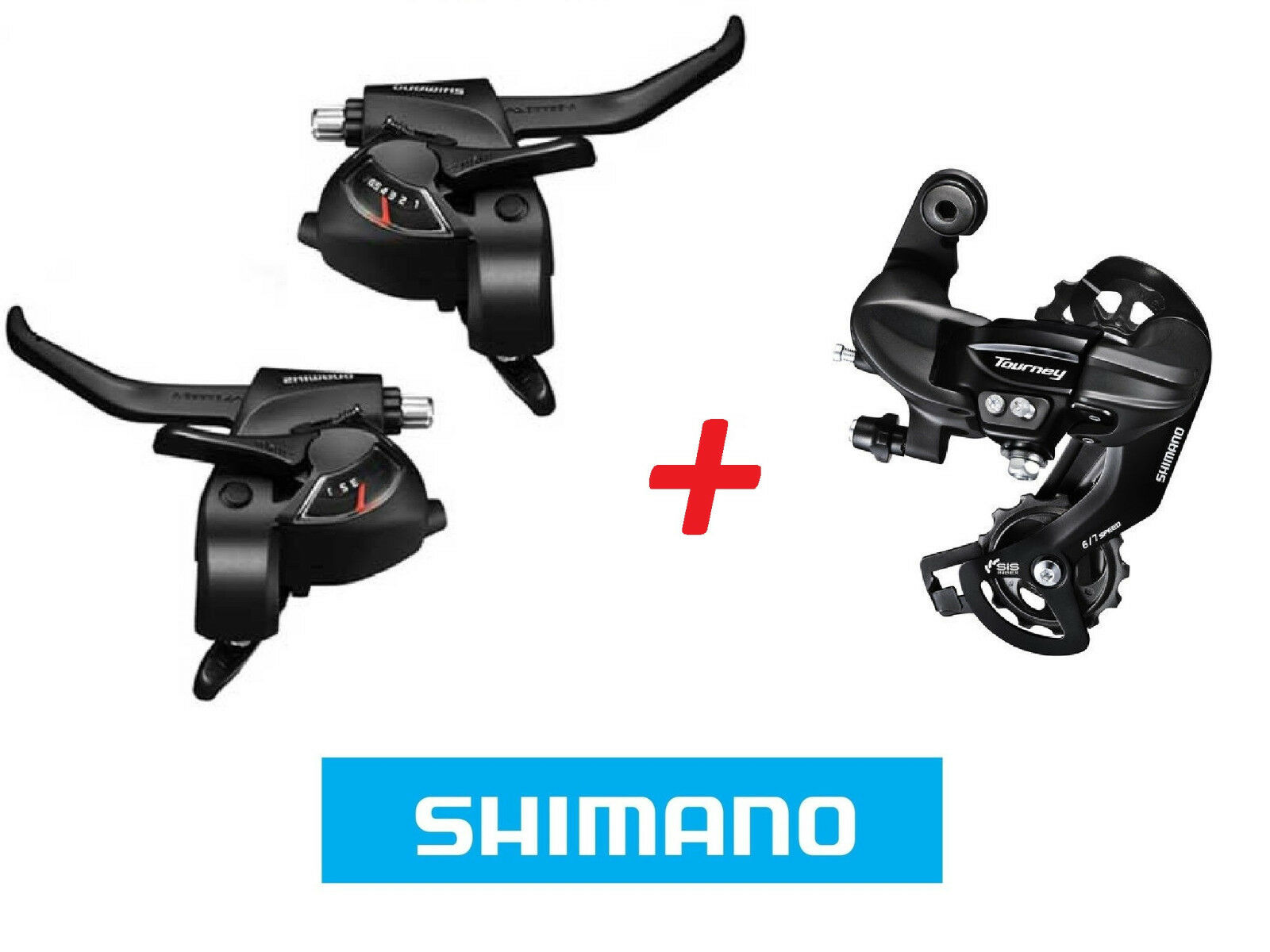 Coppia Leve SHIMANO Comandi Cambio + Freni + CAMBIO 21 Velocità (FILI INCLUSI)