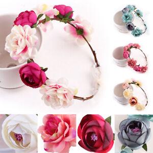 Headwear-Party-Crown-Headband-Floral-Garland-Flower-Hairband-Wedding-Bride