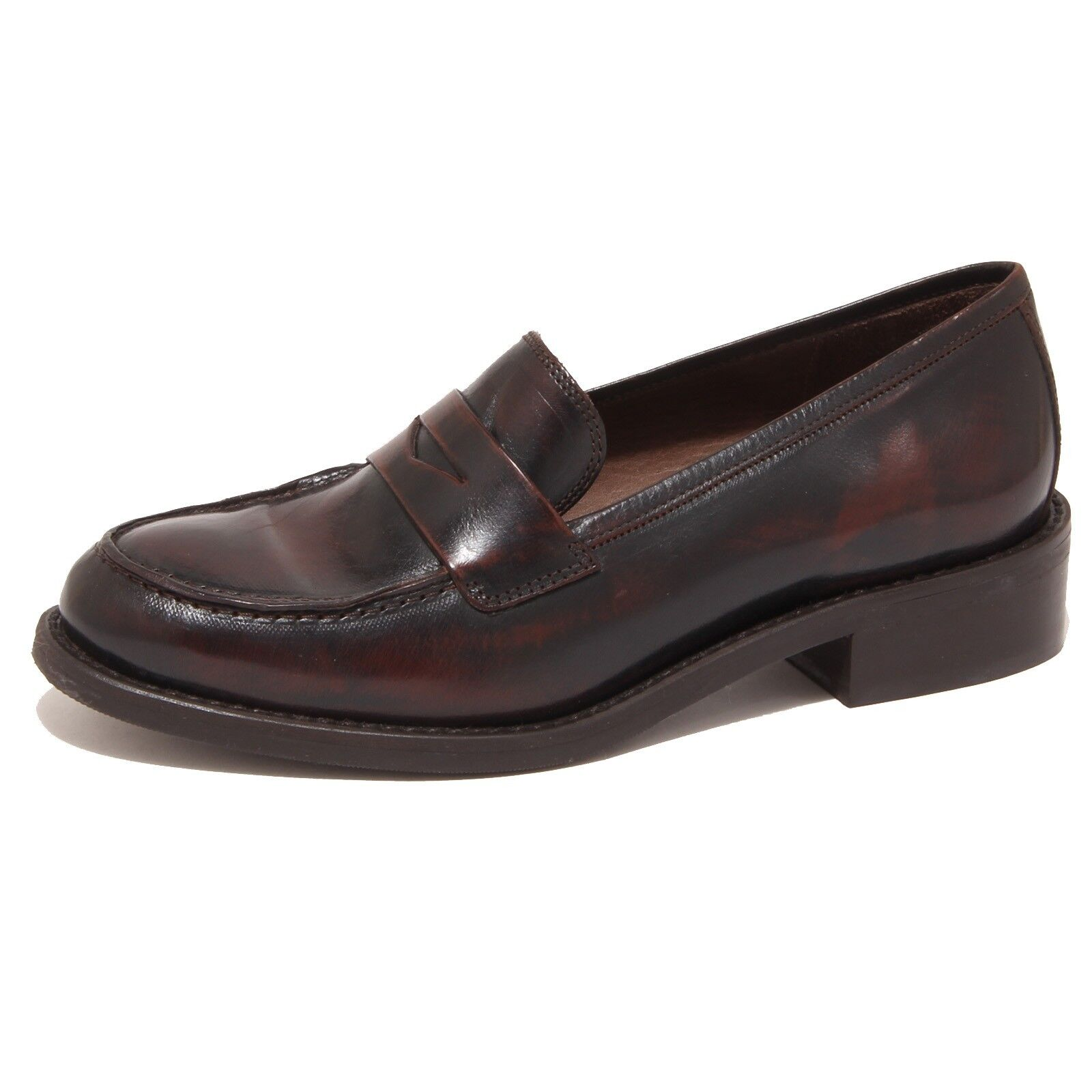8466P mocassino SAX ASTOR ABS marrone scarpa donna loafer woman