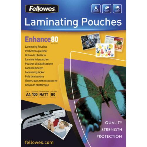 100 Fellowes Laminierfolien matt für A4