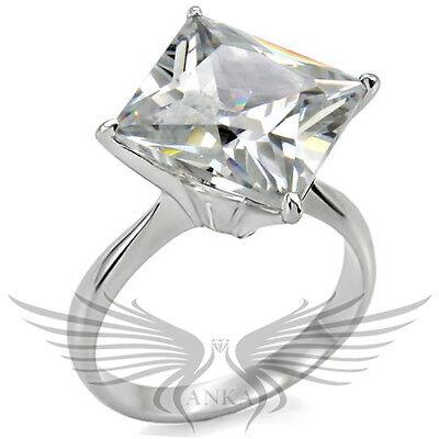 Brilliant HUGE Princess Cubic Zircon AAA CZ Engagement Ring 6 7 8 9 10 TK011