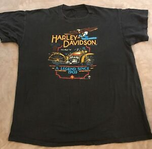 1985 Harley Davidson Holoubek Inc Original T Shirt Men S Size Xl