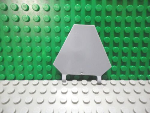 Lego 1 Light Bluish Gray clip on 5x7 Hexagonal flag NEW