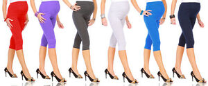 Cropped-Very-Comfortable-Maternity-Cotton-Leggings-3-4-Length-PREGNANCY