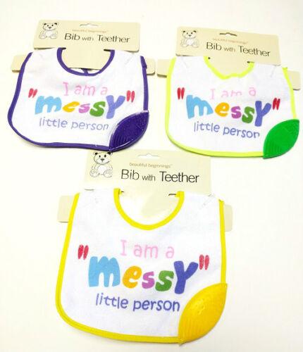 Bib With Teether Brand New Baby Bib Teether Hygienic Food Catcher Wipe Clean