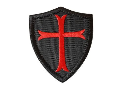 Patch Templerkreuz Templer Ritter Kreuz Aufnäher Abzeichen Flicken mit Klett