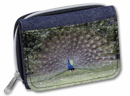 Colourful Peacock Girls//Ladies Denim Purse Wallet Christmas Gift Idea AB-PE76JW