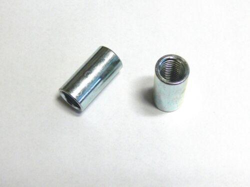 2 Manchons de Raccordement M12 M16 M20 Zingué Rond Écrou Extra-Long,Douille