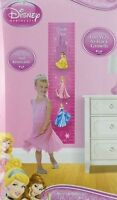 Disney Princess Growth Height Chart Removable Wall Sticker Decal Girl's Pink