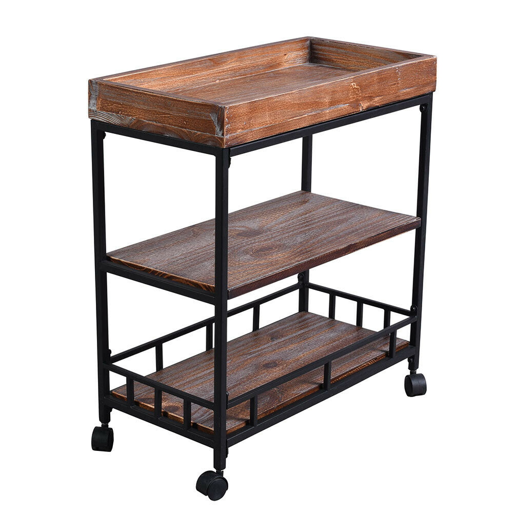 Kitchen Serving Cart Rolling Bar Buffet