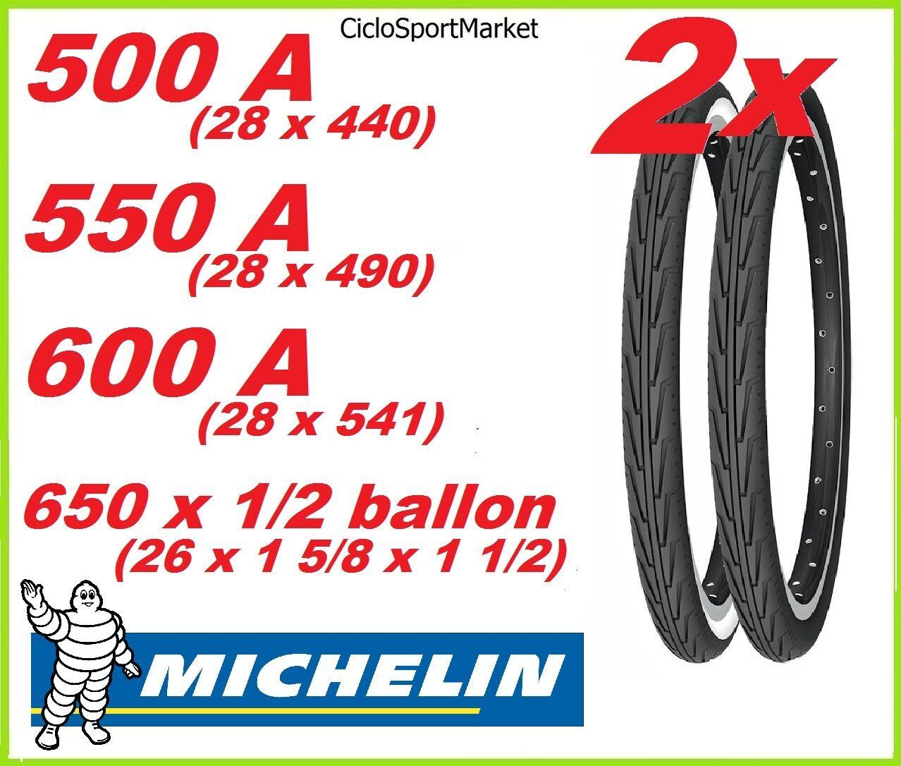 2 x Reifen Michelin 500A 500A 500A - 550A - 600A - 26 X 1 2 Ballon Fahrrad city 36ca6b