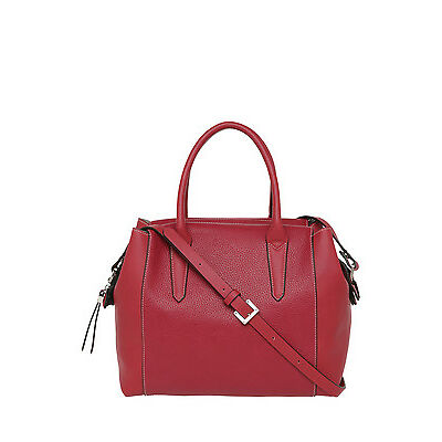 NEW Basque BHI008 Contrast Stitch Tote Bag Red