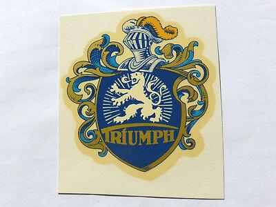 Triumph Links Schriftzug Wasserabziehbild Abziehbild 05202t 73x80 Mm Blau/gold