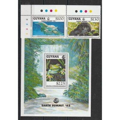 Ehrlichkeit Guyana 1992 Tierwelt 2 Werte Süd- & Mittelamerika Briefmarken Bf Mnh Mf58187 Reich An Poetischer Und Bildlicher Pracht