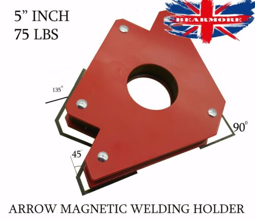2 X 75LB MAGNET MAGNETIC SOLDERING ARROW WELDING 3 ANGLES CLAMP HOLD HOLDER
