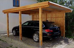 Carport 3x5 m kiefer inkl. dach und anker ca. 310x510 cm direkt vom