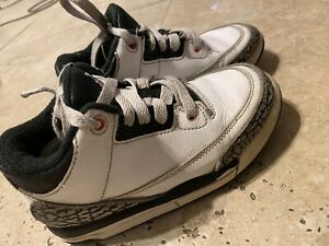 Kids Jordan 3s White Cement Size 11.5c
