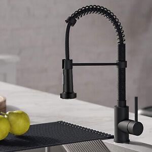 Details about Matte Black Kitchen Sink Faucet Pull Down Kitchen Faucet  Single Handle Mixer Tap