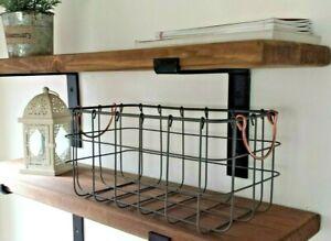 Shelf-Scaffold-Board-Rustic-Shelves-Industrial-Solid-Wood-2-Brackets