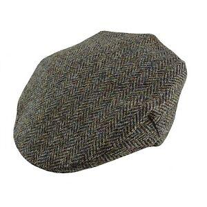 c4b3d0c7c Details about Gents Authentic Harris Tweed One Size Cap GH0352