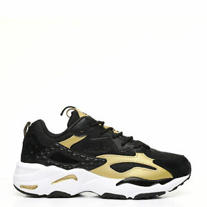 Fila Men's Ray Tracer Shoes: Black/Gold