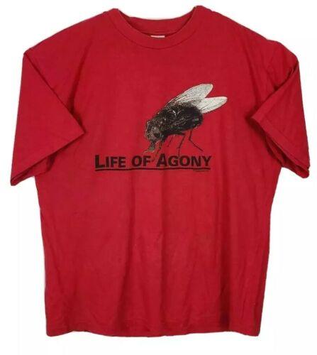 Life Of Agony Mens Blue Grape VTG 1996 T-Shirt Red