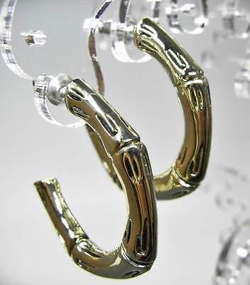 Neu 30mm Creolen Offen Ohrringe Farbe Gold 3cm Ohrstecker Offen Halbcreolen 100% Garantie