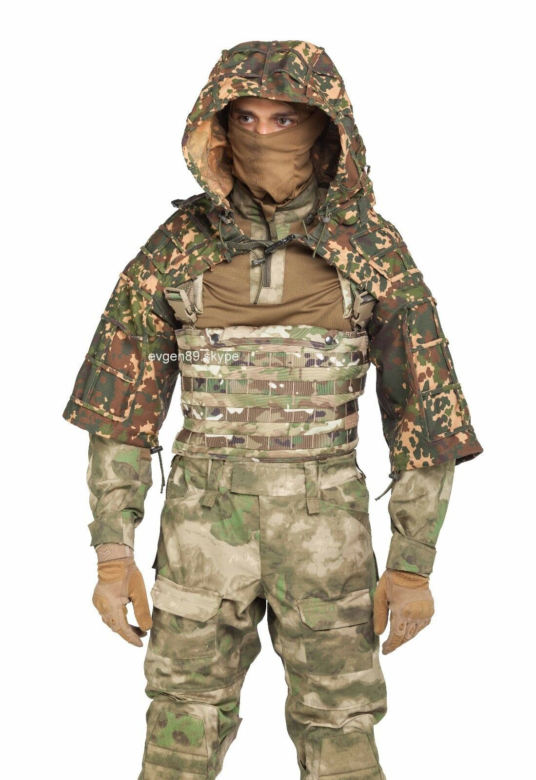 Disguise Sniper Coat   Viper Hood  Russian Spetsnaz Ripstop Izlom   Skol  save up to 70%