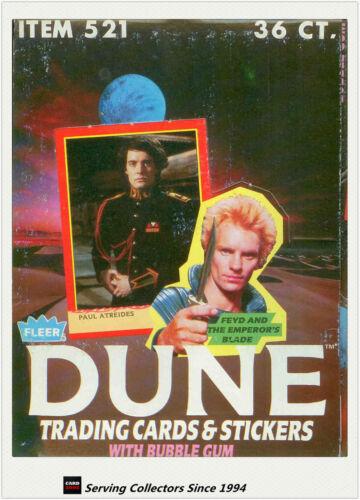 --Original Rare item 1984 Fleer DUNE Trading Card+Stickers Wax Box 36 Packs