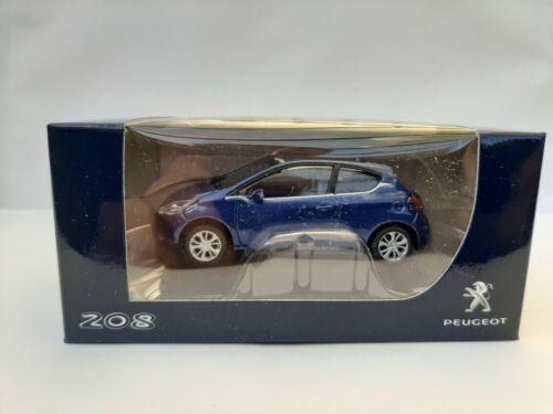 Peugeot 208 Mk1 Bleu  metal Neuf en boite Norev 3 inches 1//60