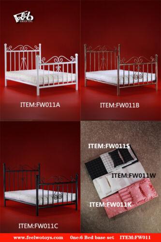 FEELWOTOYS 1//6 FW011A Metal Bed Base /& Mattress Pillow Quilt Sheet F 12/'/' Figure