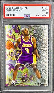 Kobe Bryant 1996-97 Fleer Metal RC Rookie #137 PSA 9 MINT LOS ANGELES LAKERS MVP